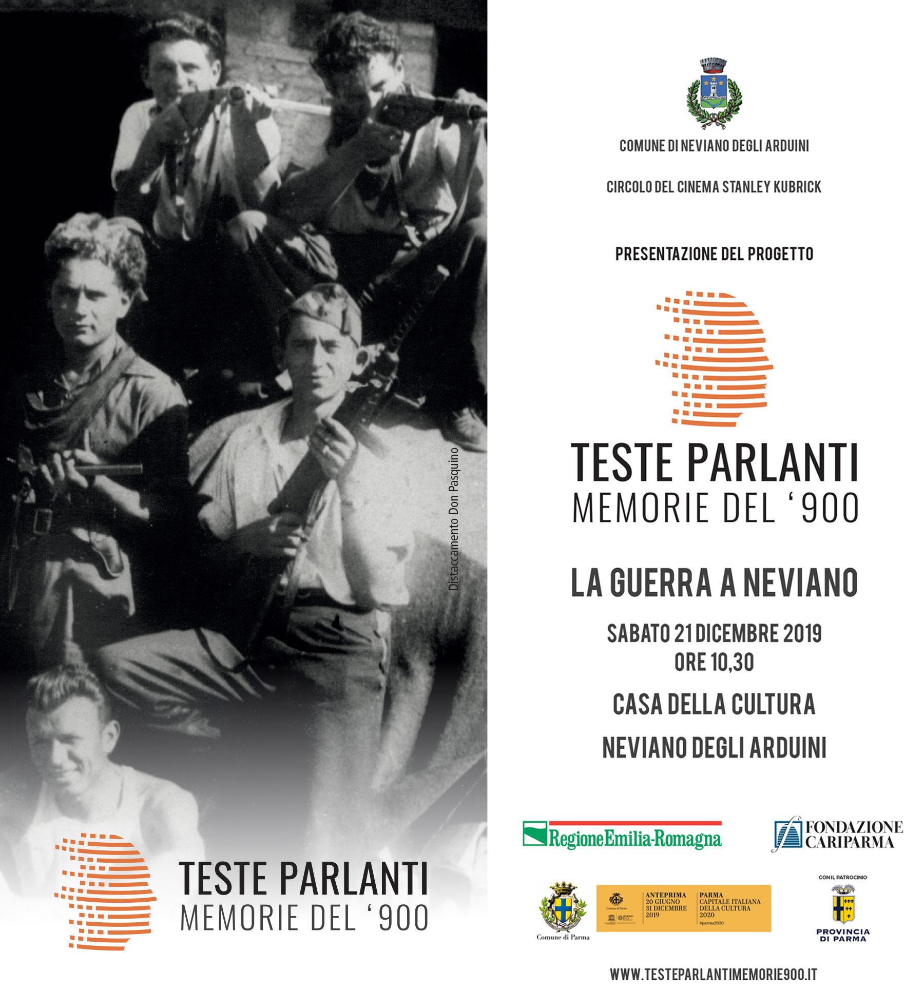 La Guerra a Neviano – Teste Parlanti – Sabato 21 Dicembre